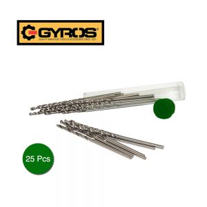 Carbon Steel Wire Gauge Mini Twist Drill Bits | Includes 25 Micro Carbon Steel Bits Size #77 With Clear Storage Vial | Use with Pin Vise, Screwdrivers, and Rotary Tools (45-12577)