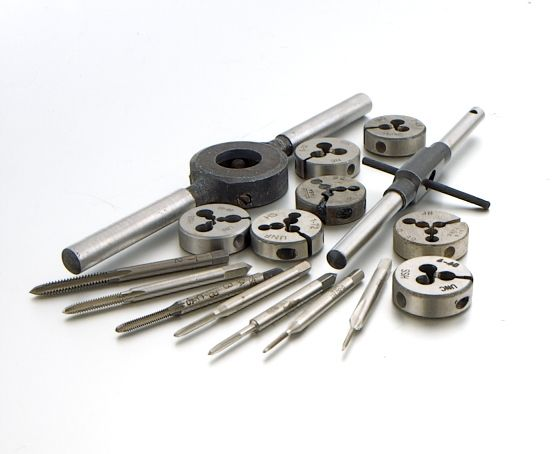 High Speed Steel 4-40 3-48 Tap Set 2-56 Total of 5  Pieces. 8-32 6-32